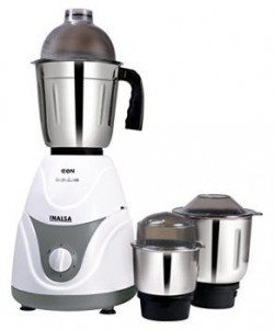 Inalsa Eon 550Watt Mixer Grinder with 3 Jars WhiteGrey