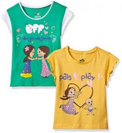 Chhota Bheem Girls TShirt Pack of 28904157849920Green and Yellow2  3 years