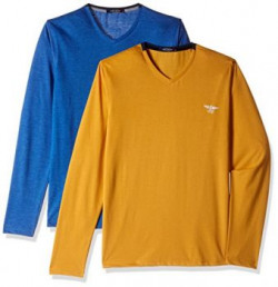 Fort Collins Mens TShirt Pack of 2 92716MediumRoyal Melange and Mustard