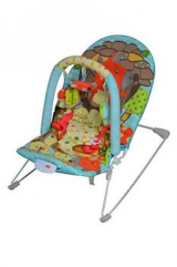 Sunbaby Wild Animal Baby Bouncer Blue