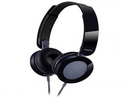 Panasonic Clear amp Powerful Sound Stereo Headphones With Mic Black