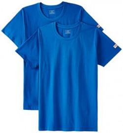 Chromozome Mens Round Neck TShirts Pack of 2 OS1 Royal blue S