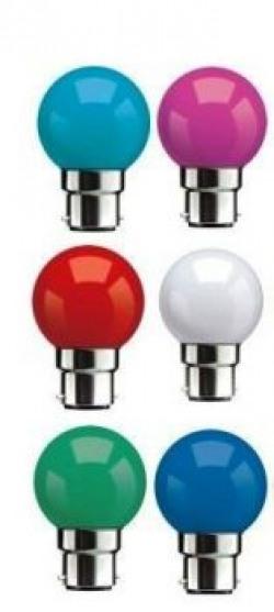 Syska Multi Color LED Bulb Pack of 6 05 Watt
