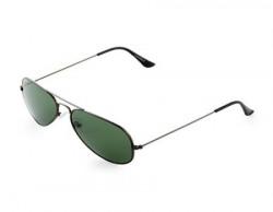 Laurels UV Protected Aviator Unisex Sunglasses CL10136Green Lens