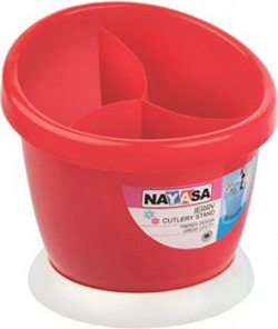 Nayasa Jerry Plastic Cutlery Stand Red