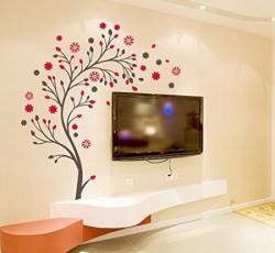 Decals Design Beautiful Magic Tree with Flowers Wall Sticker PVC Vinyl 50 cm x 70 cm