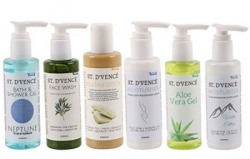 ST DVENCEacute Skin Care Gift Box Set Hamper of Body Moisturiser Body Moisturiser  Winter Edition Aloe Vera Gel Multani Mitti Lotion Bath and Shower Gel  Neptune Tea Tree Oil Face Wash 6 products of 100 ml each