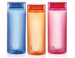 Cello H2O Unbreakable Bottle  1 Litre Set of 3 Colour May Vary