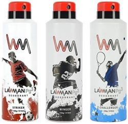 Lawman PG3 Deodorant 450 ml Pack of 3