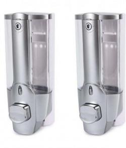 Selfee Silver 350ml Liquid Soap Dispenser  Pack Of 2