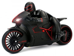 Sunshine Remote Control Motorcycle 24 GHz Built in Gyroscope LED Headlights Black