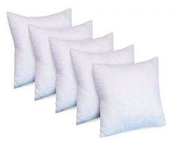 Super India Micro Fiber Cushion Fillers Set of 5 16 inch X 16 inch  White
