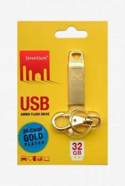 Strontium 32 GB Pen Drive Gold