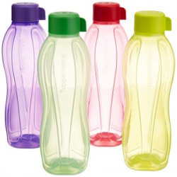 Tupperware Aquasafe Water Bottle Set 1 Litre Set of 4 Multicolor