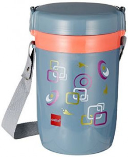 Cello Amaze Insulated 4 Container Lunch Carrier Grey