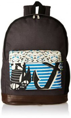 Kanvas Katha Canvas Grey Casual Backpack KKBPN002G