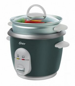 Oster CKSTRC4722049 1Litre Rice Cooker with Steam Tray GreySilver