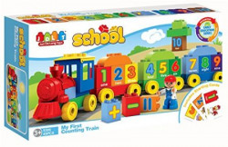 Saffire My First Counting Train Building Blocks  Multi Color 45 Count
