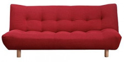 FabHomeDecor Palermo FHD352 Three Seater Sofa cum Bed Red
