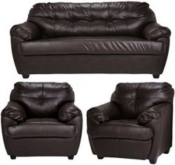 FabHomeDecor Rosabelle Five Seater Sofa Set 311 Brown