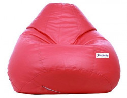 Excel Classic Bean Bag Cover without beans  XL Size  Pink Colour