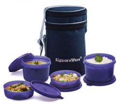 Signoraware Executive Lunch Box with Bag 15cm Deep Violet