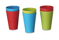 All Time Plastics Glass Set 300ml Set of 6 Multicolour