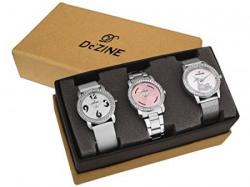Dezine Analogue Multicolour Dial 3 Pcs Combos Quartz Watch For Women  3CMB5