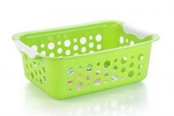 Nayasa Spotty No 2 2 Piece Plastic Fruit Basket Set Large Green