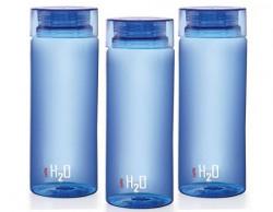 Cello H2O Unbreakable Bottle  1 Litre Set of 3 Blue