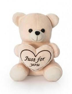 Dimpy Stuff Teddy Bear with Heart Brown 20cm