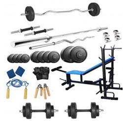 Protoner 8 in 1 Bench home gym package for fitness weight training 100 kg