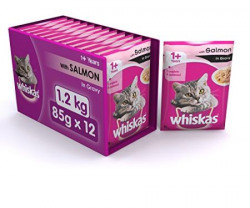 Whiskas Wet Meal Adult Cat Food Salmon in Gravy 1 kg