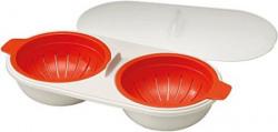 Joseph Joseph MCuisine Microwave Plastic Egg Poacher OrangeBeige