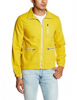 United Colors of Benetton Mens Cotton Jacket 890397503882015A2FS1C7042I23H48mediumAmber Yellow