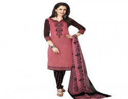 Rajnandini Womens Cotton Salwar Suit Dress MaterialJOPLSDYA1832MARRONampBLACKFree Size