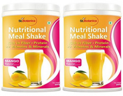 StBotanica Nutritional Meal Replacement Mango Shake for Weight Management  500 g Pack of 2