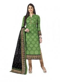 Miraan Womens Cotton Dress MaterialSAN1911GreenFree Size