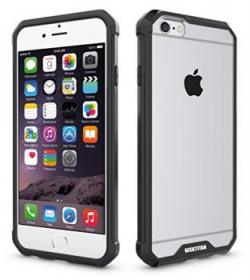 GeekTitan iPhone 6s iPhone 6 Premium Air Cushion Slim TPU Case Shock Resistant Air Cushion Dual Layer MultiPoint Protection Back Cover  Black