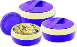 Princeware Solar Plastic Casserole Set 3Pieces Violet