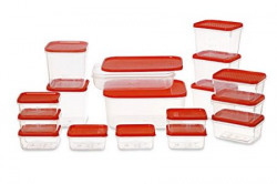 All Time Plastics Polka Container Set 65 Litre Set of 17 Red