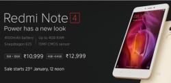 Next Sale on 30th Jan  12 PM Redmi Note 4