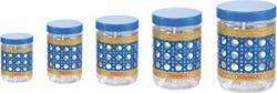 Nayasa Sparkle Plastic Container Set 5Pieces Blue
