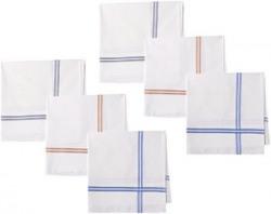 Symbol Mens Cotton Handkerchief Pack of 6 handkerchief02One SizeWhite