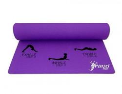 Gravolite 2478 Sun Salutation Yoga Mat with Strap Adult 3mm Purple