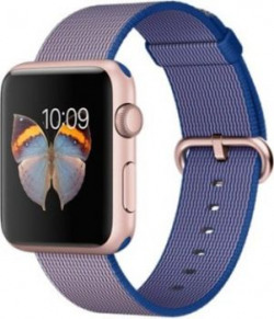 Apple Watch Sport 42mm Rose Gold Aluminum Case with Royal Blue Woven Nylon Rose Gold Smartwatch
