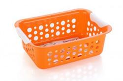 Nayasa Spotty No 2 2 Piece Plastic Fruit Basket Set Large Orange