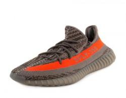 Adidas Men s Yeezy Boost 350 V2  BB1826 GreyBelugaSolar Red 9 DM US