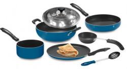 Crystal Nonstick Cookware Set  7pcs blue