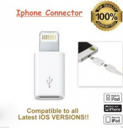 1 RS Sale Micro USB to Lightning 8 pin Adapter Converter mumbai only